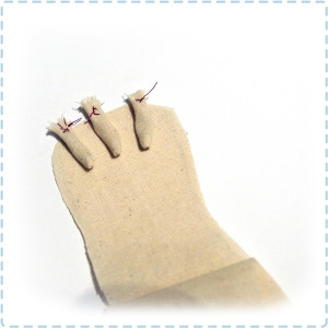 How to sew the claws on