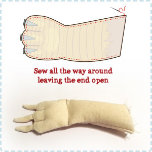 How to sew up the Arm