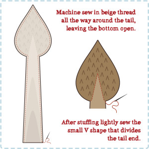 How to make the tail