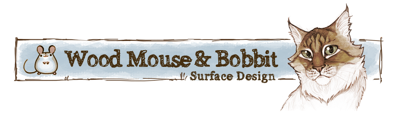 wood mouse & bobbit_Surface Design