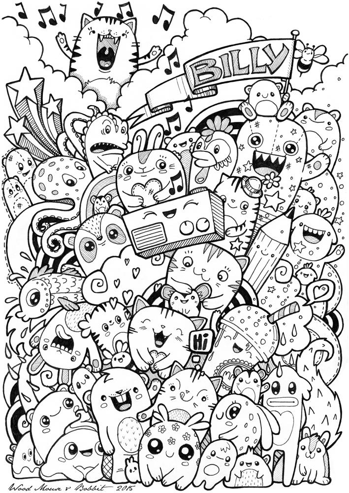 Kawaii Doodles Wood Mouse Bobbit Kawaii Crush Coloring Pages