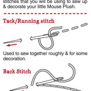 Stitch Guide: Tack/Running stitch & Back stitch