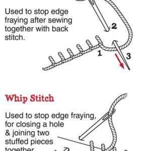 Blanket stitch & Whip stitch.