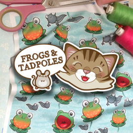 Little Frogs Fabric